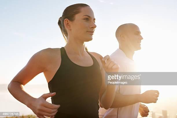Having a partner makes the run more fun