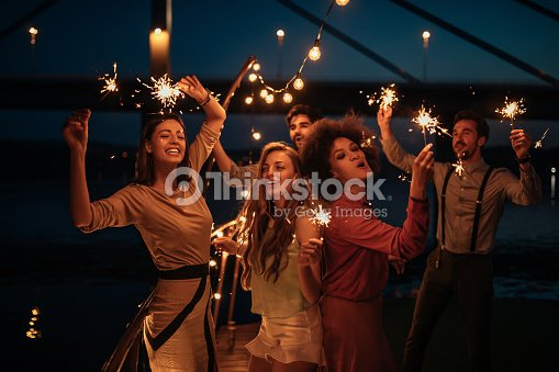 Having best times of their lives : Stock Photo