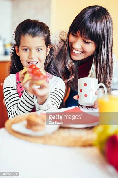 Having breakfast together
