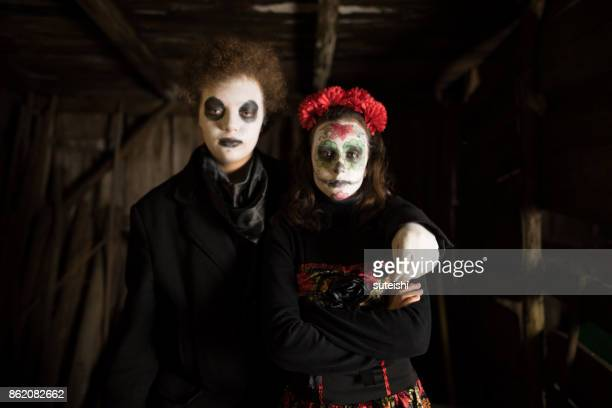 Having fun at Halloween – The couple