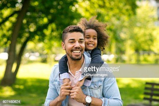 Having fun with daughter.