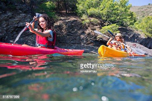Having fun with the kayak