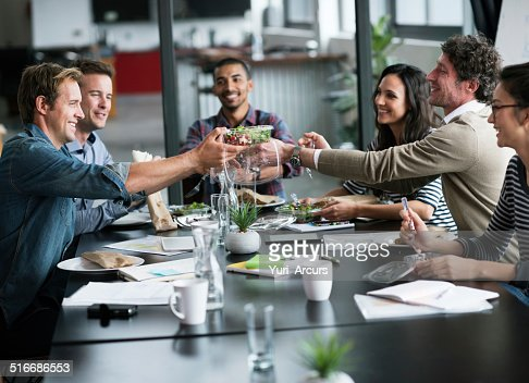 Having lunch as a team