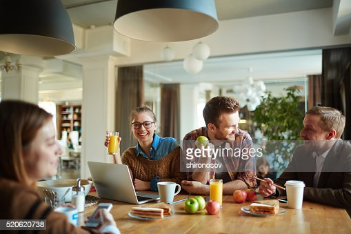 Having snack : Stock Photo