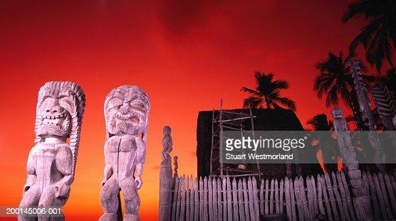 USA, Hawaii, Big Island, Pu?uhonua o Honaunau National Historical Park
