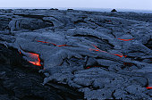 USA, Hawaii, Big Island, Volcanos National Park, cooling lava