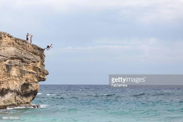 Falaise de Hawaii sauter