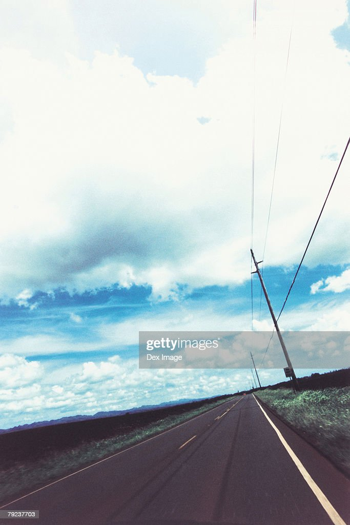 US, Hawaii, Country road : Stock Photo