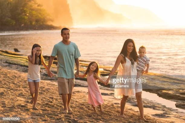 Hawaii family vacation on beach