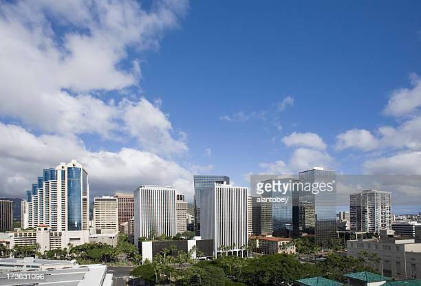Hawaii: Honolulu Financial District Skyline