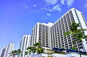 ハワイ ワイキキビーチのホテル群