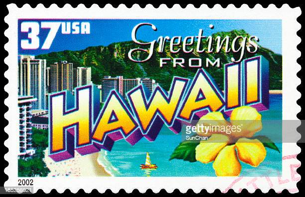 Hawaii islands stamp for a post card