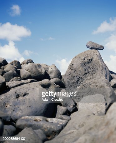 USA, Hawaii, Kauai, rocks on Ke'alia Beach : Stock Photo