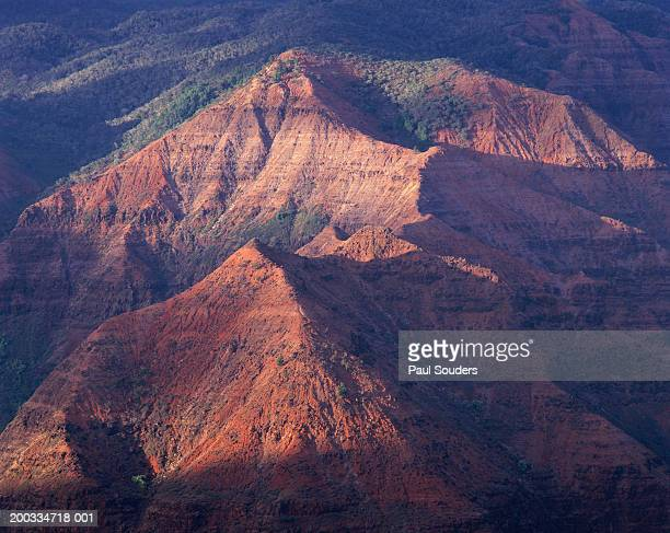 USA, Hawaii, Kauai, Waimea Canyon State Park, sunset, elevated view
