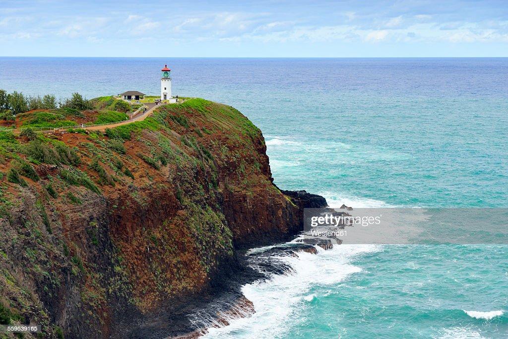 USA, Hawaii, Kilauea, Lighthouse at Kilauea Point National Wildlife Refuge