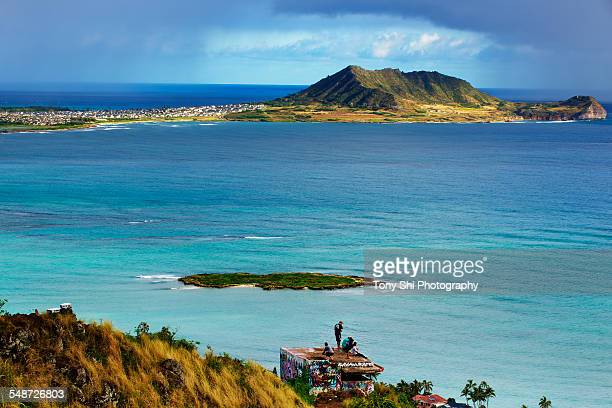 Hawaii - Lanikai Pillboxes and Marine base, Kailua