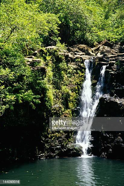 Hawaii Maui Waterfalls Along Highway 360 Road To Hana