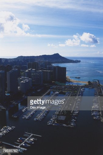 USA, Hawaii, Oahu, Diamond Head in background : Stock Photo