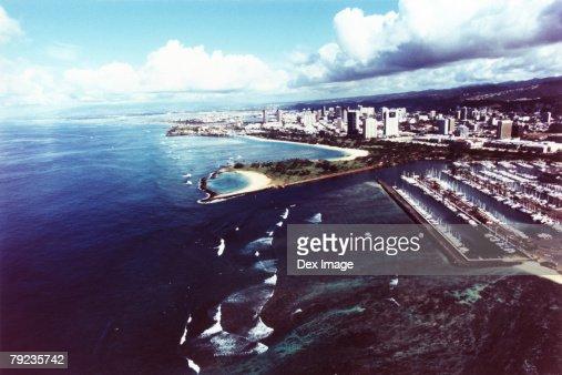 Hawaii, Oahu, Honolulu, Waikiki and Magic Island : Stock Photo