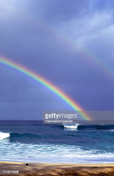 USA Hawaii Oahu, North Shore, arcobaleno.