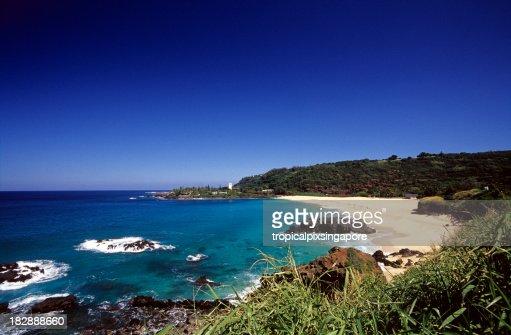 'USA Hawaii O'ahu, North Shore, Waimea Bay.'