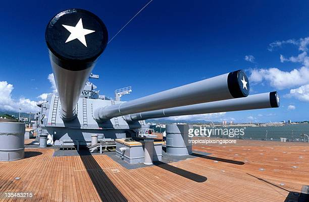 USA Hawaii O'ahu, Pearl Harbor, USS Missouri.