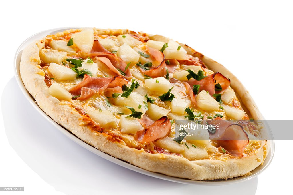 Hawaii pizza : Stock Photo