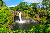 Hawaii, Rainbow Falls in Hilo. Wailuku River State Park