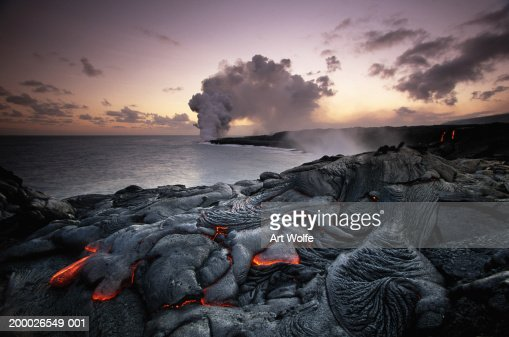 USA, Hawaii, Volcanoes National Park, Kilauea erupting