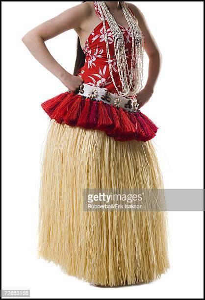 Hawaiian female hula dancer