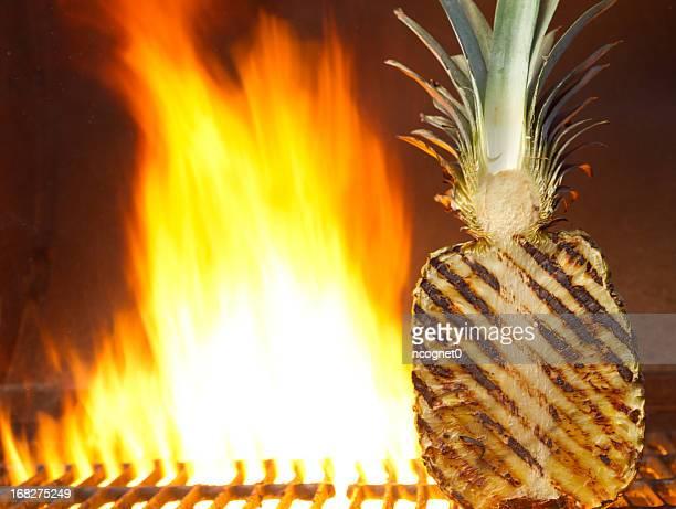 Hawaiian fruit on the grill