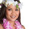 Beautiful hawaiian girl smiling