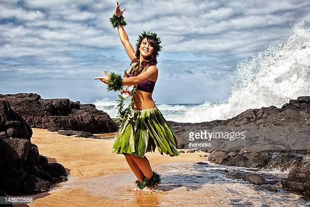 Hawaiian Hula Dancer on Beach
