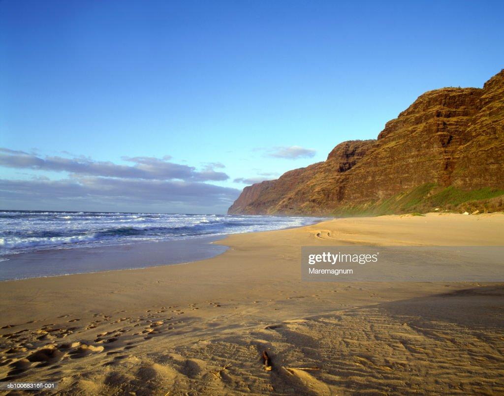 USA, Hawaiian Islands, Kauai, Polihale beach : Stock Photo
