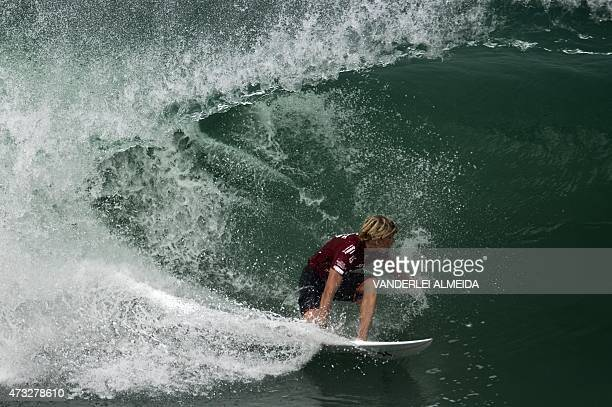 Hawaiian surfer John John Florence competes during the Association of Surfing Professionals' men's 2015 WSL World Championship Tour at Barra da...