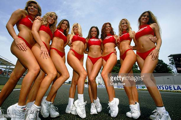 Hawaiian Tropic Girls add a touch of glamour to the race during the Le Mans 24 Hours race held on June 15 2003 at The Circuit de la Sarthe in Le Mans...
