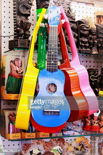 Hawaiian Ukuleles : Stock Photo
