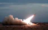 A Hawk surfacetoair missile is launched during military maneuvers at an undisclosed location in Iran on November 13 2012 AFP PHOTO/ISNA/AMIN...