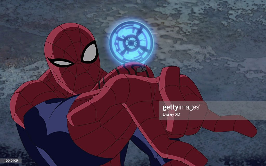 MAN - 'Hawkeye' - Spider-Man and Hawkeye are forced to team up when the armored mercenary The Beetle returns to New York City. This new episode of 'Ultimate Spider-Man' airs on SUNDAY, FEBRUARY 10 (11:00 -11:30 a.m., ET/PT) on Marvel Universe on Disney XD. (Marvel via Getty Images) SPIDER-MAN