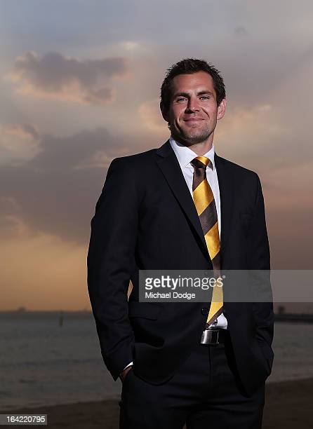 Hawks Captain Luke Hodge poses during the Hawthorn Hawks Season Launch and Hall of Fame presentation at Encore St Kilda on March 21 2013 in Melbourne...