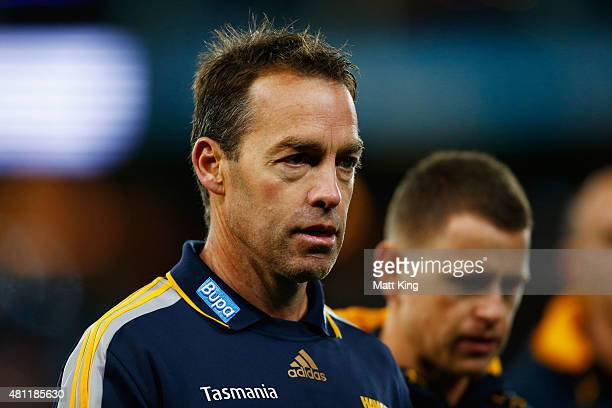 Hawks head coach Alastair Clarkson looks on before the round 16 AFL match between the Sydney Swans and the Hawthorn Hawks at ANZ Stadium on July 18...