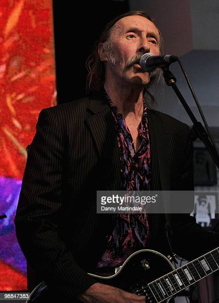 Hawkwind performs at launch of The MOJO Honours List at HMV Oxford Street on May 4 2010 in London England