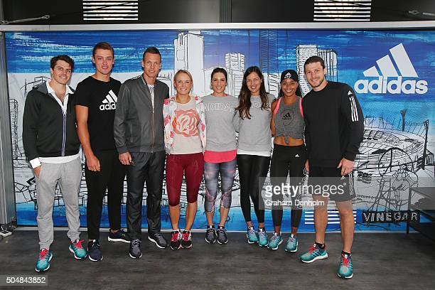 Hawthorn AFL player Isaac Smith Collingwood AFL player Darcy Moore Tomas Berdych of the Czech Republic Caroline Wozniacki of Denmark Andrea Petkovic...
