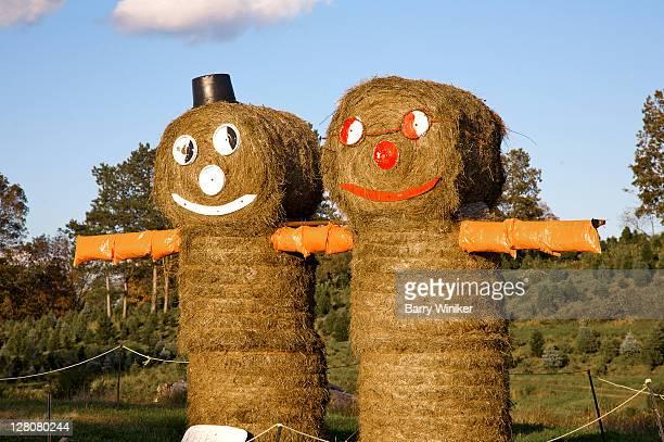 Hay couple, Autumn, Upstate New York, Dutchess County, U.S.A.