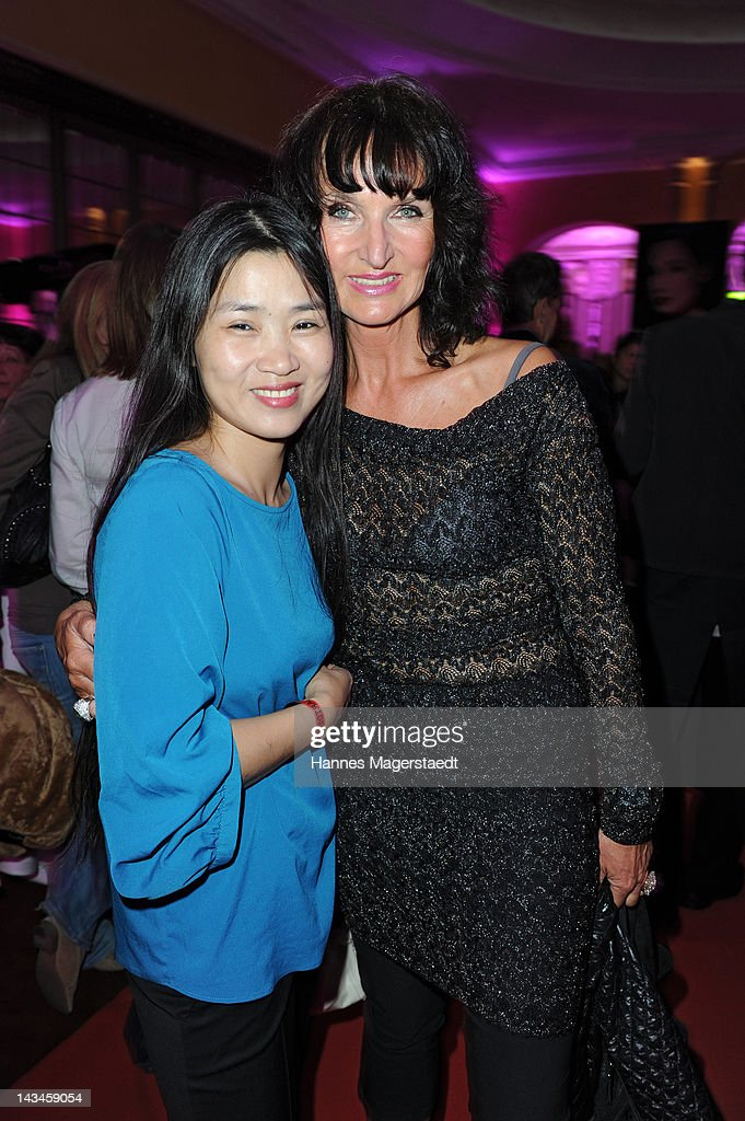 Hayah Juergens and Mona Opris attend the ARTDECO Art Couture Collection at Bayerischer Hof on April 26, 2012 in Munich, Germany.