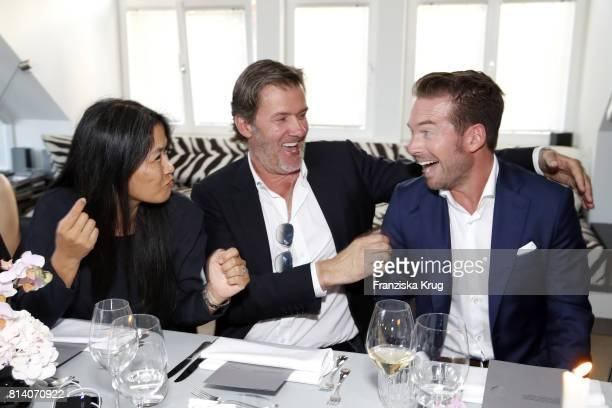 Hayah Juergens John Juergens and Sebastian Hoeffner during the Clos19 dinner on July 13 2017 in Munich Germany