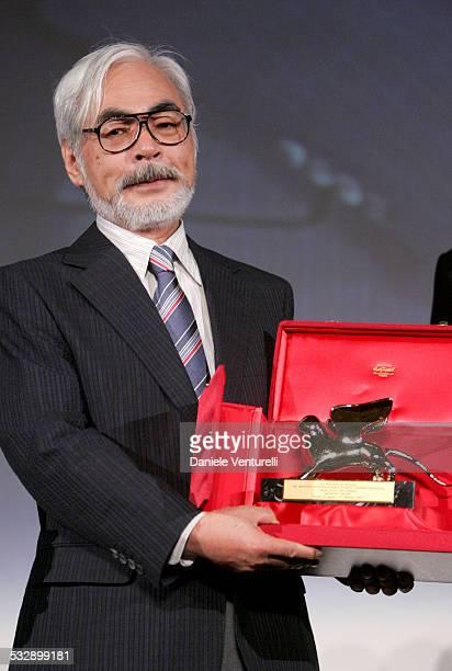 Hayao Miyazaki during 2005 Venice Film Festival Hayao Miyazaki Presentation at Venice Lido in Venice Italy