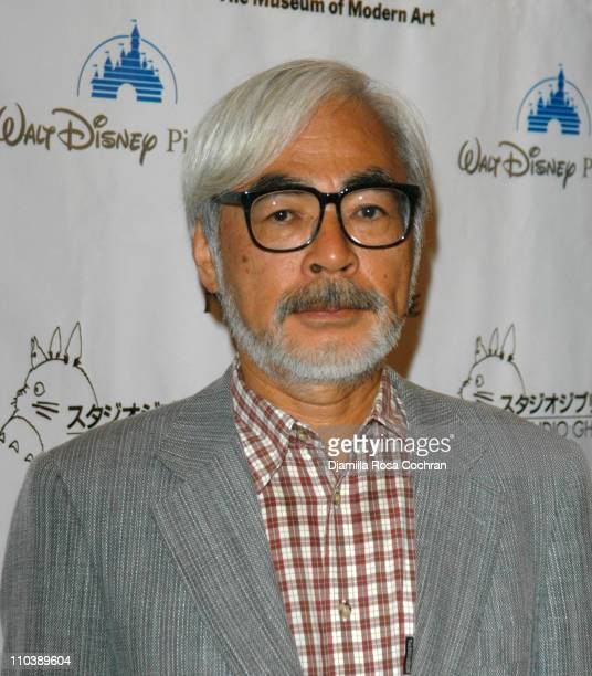 Hayao Miyazaki during 'Howl's Moving Castle' New York City Premiere at The Museum of Modern Art in New York New York United States