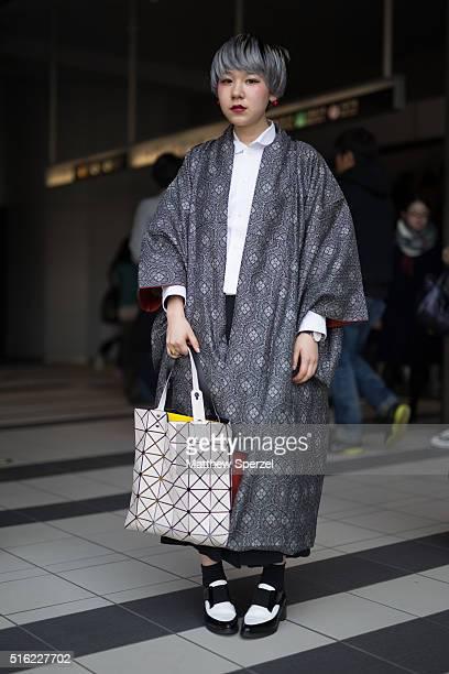 Hayashizaki Sakura attends the Motohiro Tanji show during Tokyo Fashion Weekon March 17 2016 in Tokyo Japan