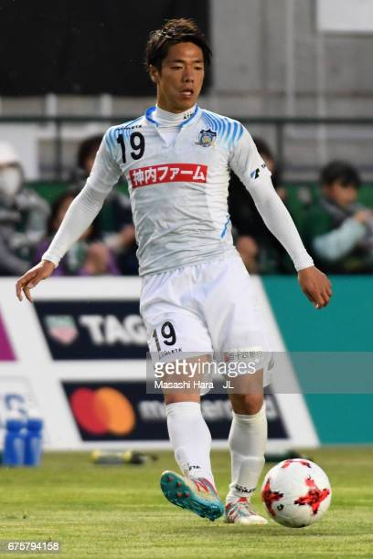 Hayato Nakama of Kamatamare Sanuki in action during the JLeague J2 match between Matsumoto Yamaga and Kamatamare Sanuki at Matsumotodaira Park...